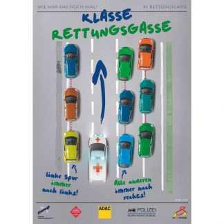 Plakat Rettungsgasse