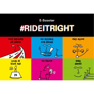 ride it right Postkarte